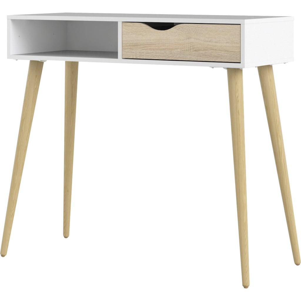 Home affaire Konsolentisch »Oslo«, mit einer grifflosen Schublade, mit einem offenen Ablagefach, Zweifarbig, Made in Denmark, Breite 103 cm