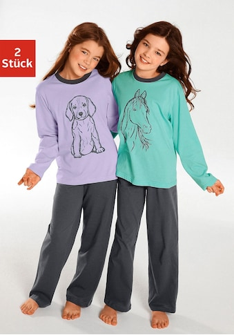 Pyjama, Oberteile in schönen Farben mit Tierdruck kaufen
