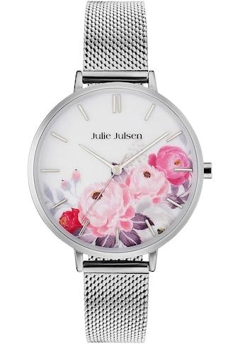 Julie Julsen Quarzuhr »Flower Silver Mesh, JJW11SME« kaufen