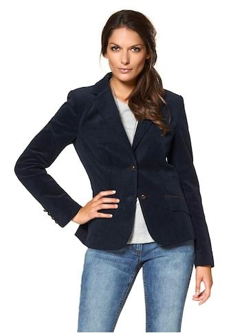 Aniston CASUAL Jackenblazer, mit Lederimitat-Einfassungen und Ärmelpatches kaufen