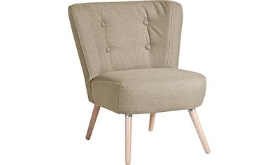 Max Winzer® Sessel »Nikki«, im Retro-Design, mit Holzbeinen kaufen