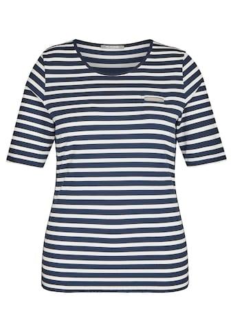Rabe T-Shirt, mit geringeltem Muster und Glitzersteinen kaufen