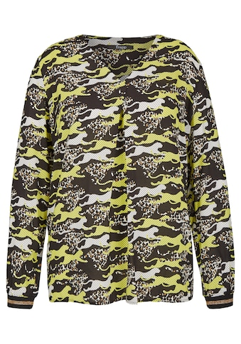 FRAPP Einzigartige Schlupf-Bluse mit Leoparden-Muster Plus Size kaufen