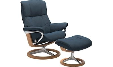 Stressless® Relaxsessel »Mayfair«, mit Hocker, mit Signature Base, Größe S, M & L, Gestell Eiche kaufen