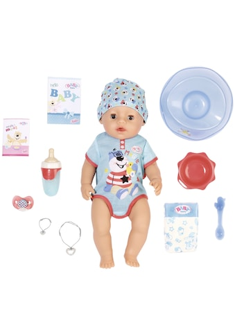 Baby Born Babypuppe »Magic Boy, 43 cm«, (Set, 13 tlg.), mit 10 lebensechten Funktionen kaufen