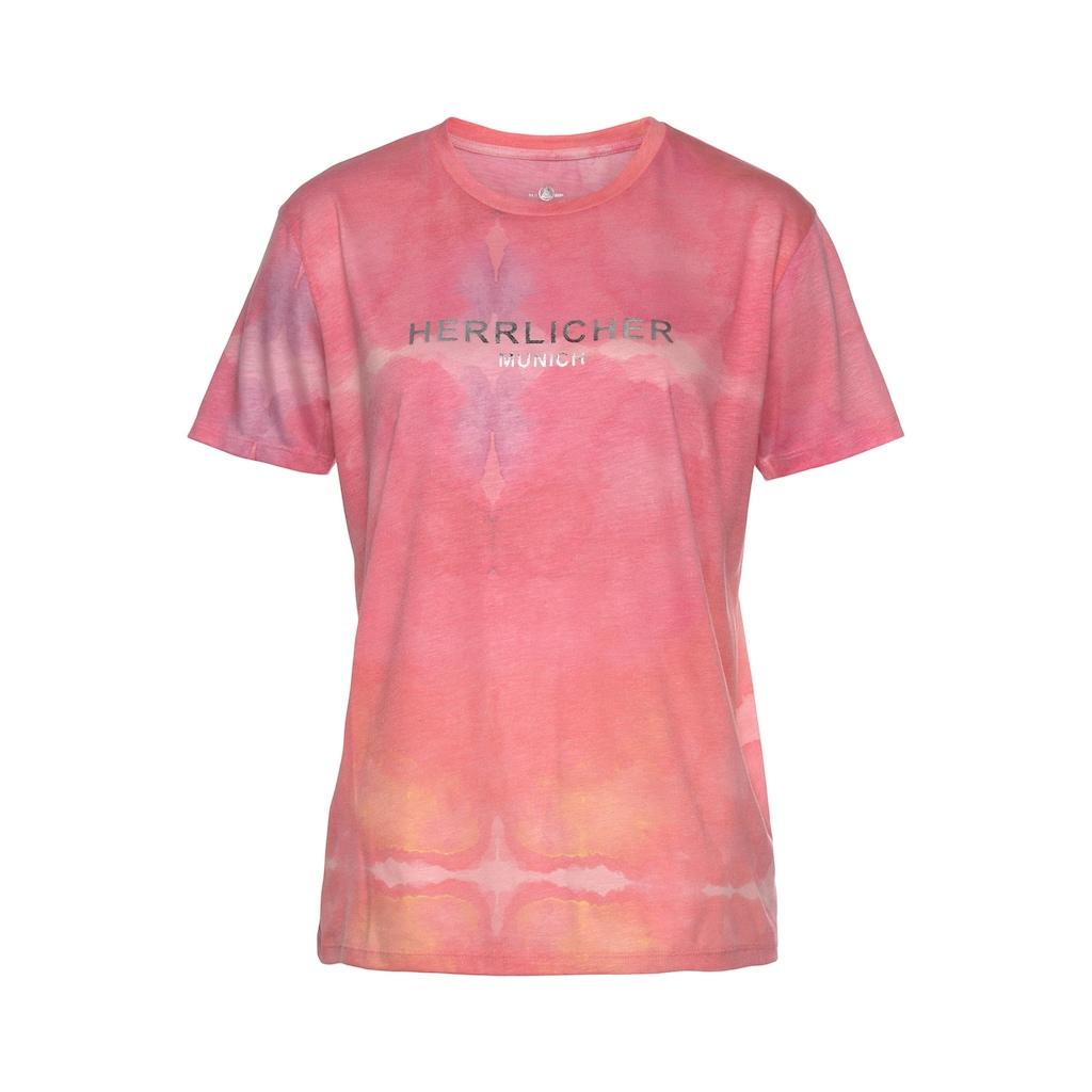 Herrlicher T-Shirt »CAMBER«, im Batik-Look