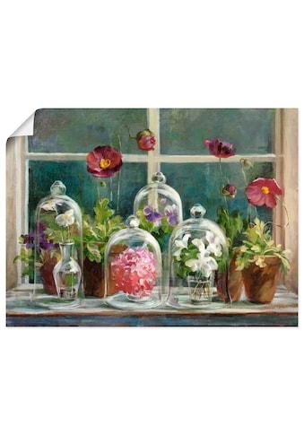Artland Wandbild »Lila Mohnsammlung am Fenster«, Arrangements, (1 St.), in vielen... kaufen