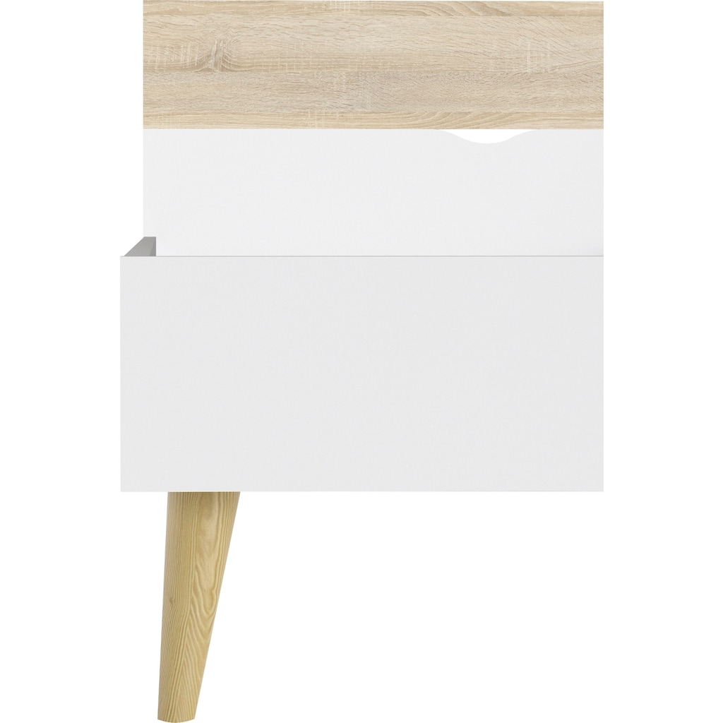 Home affaire Bett »OSLO«, mit massiven Eichenholzbeinen, zweifarbig, Made in Denmark, in unterschiedlichen Bettbreiten