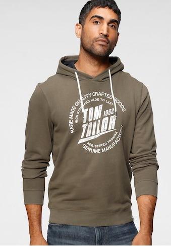 TOM TAILOR Kapuzensweatshirt, mit großem Logofrontprint kaufen