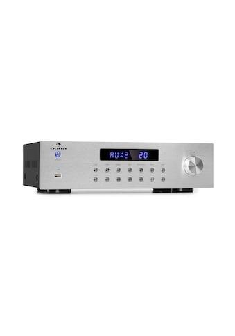 Auna 4-Zonen Stereo-Verstärker 5x80W RMS Bluetooth USB silber kaufen
