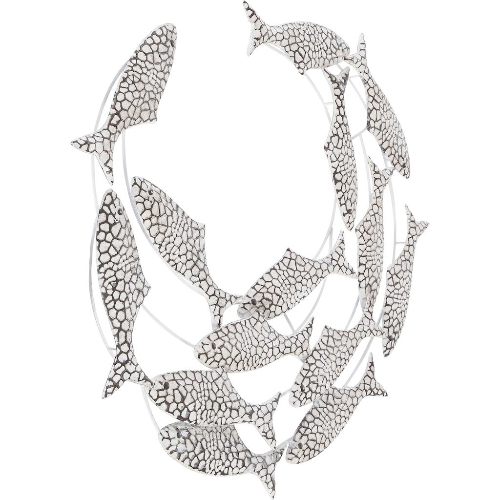 Home affaire Wanddekoobjekt »Fische«, Wanddeko aus Metall, maritim