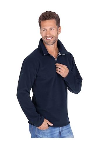 Trigema Fleece-Pullover mit Reißverschluss kaufen