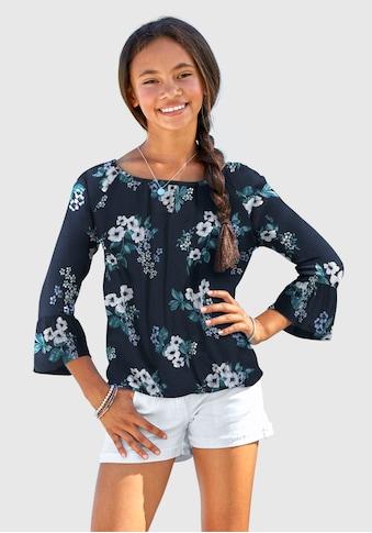 Arizona 3/4-Arm-Shirt, mit Blumenmuster kaufen