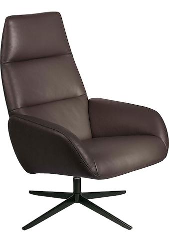 KEBE Relaxsessel »Ergo«, mit schwarz lackiertem Drehfuß Bossa in Leder oder Struktur fein kaufen