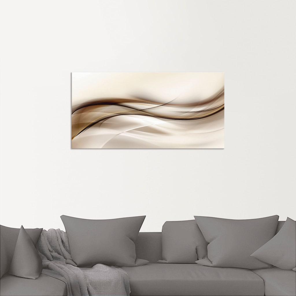 Artland Wandbild »Braune abstrakte Welle«, Muster, (1 St.)