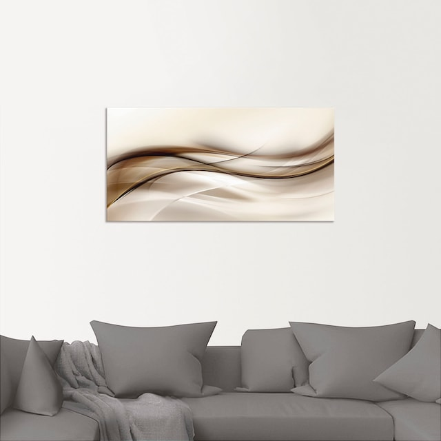 Artland Wandbild »Braune abstrakte Welle«