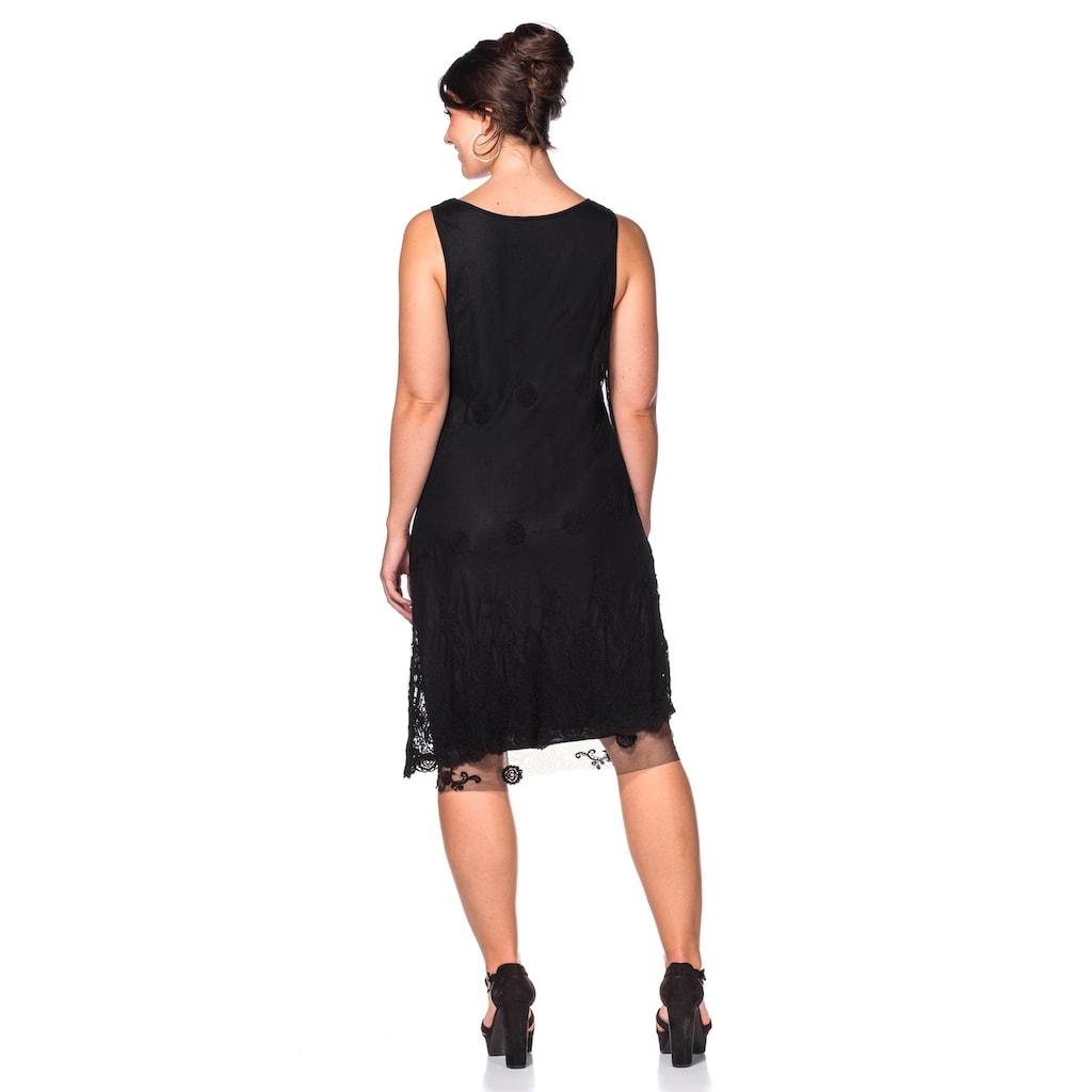 Sheego Spitzenkleid, Individuelle Waschung: Jedes Teil ein Unikat