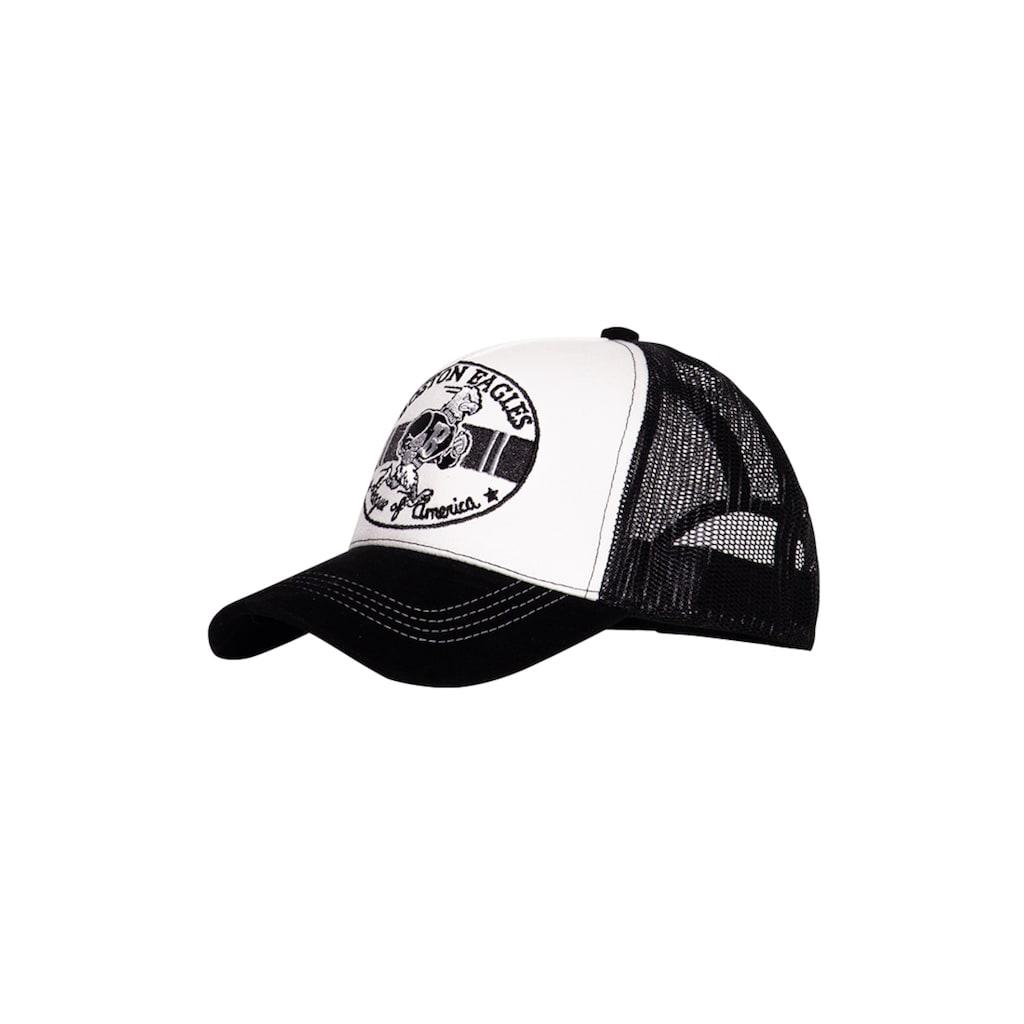 KingKerosin Trucker Cap »Boston Eagles«, mit Schirm in Samt-Optik und Stickereien