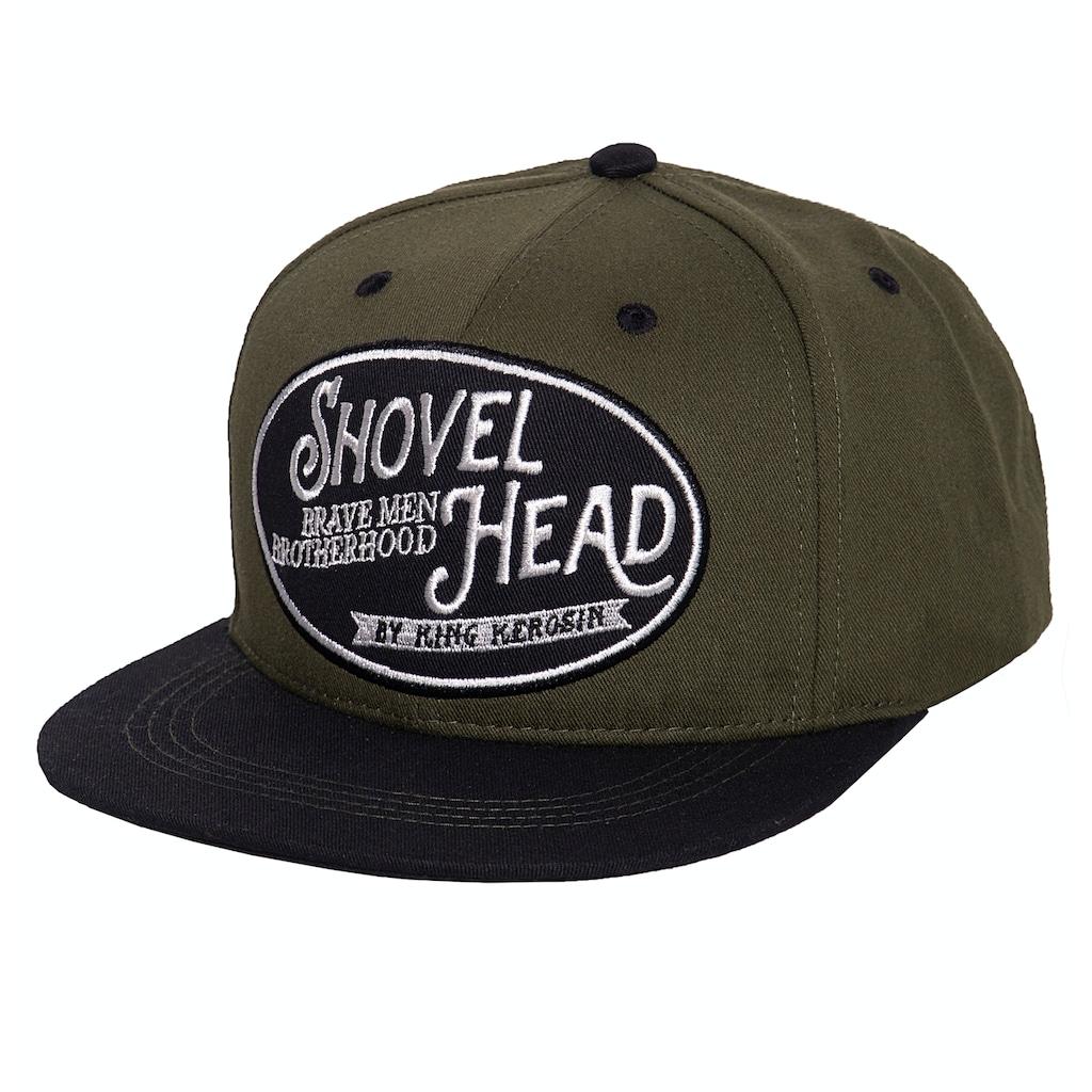 KingKerosin Flat Cap »Shovel Head«, mit Print auf der Schirmunterseite