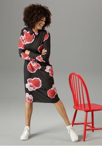 Aniston CASUAL Blusenkleid, mit großflächigem Blumendruck - NEUE KOLLEKTION kaufen