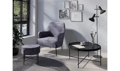Homexperts Sessel »Tiffy«, Sessel wahlweise mit Hocker kaufen
