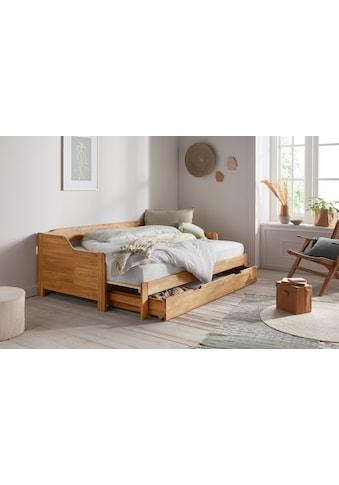 andas Einzelbett »Frita«, (3 St.), aus massivem Eichenholz, ausziehbar, mit... kaufen