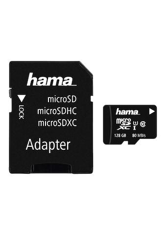 Hama microSDXC 128 GB Class 10 UHS-I 80MB/s + Adapter/Mobile kaufen