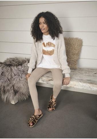 Apricot Kurzarmshirt »Lips T-Shirt«, mit Metallic-Druck kaufen