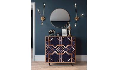Places of Style Kommode »Purple Temple«, mit dekorativem Print auf den Türen kaufen