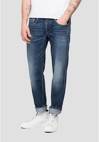 Replay Slim-fit-Jeans »Anbass«, mit leichten Abwetzungen kaufen