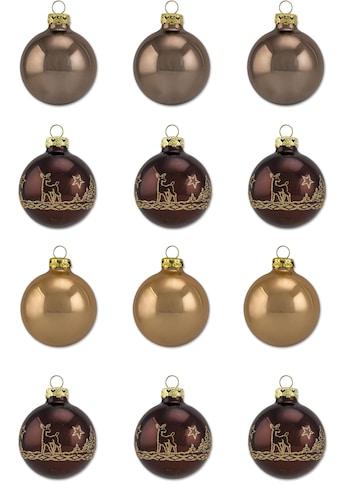 """Thüringer Glasdesign Weihnachtsbaumkugel """"Cappuccino"""" kaufen"""