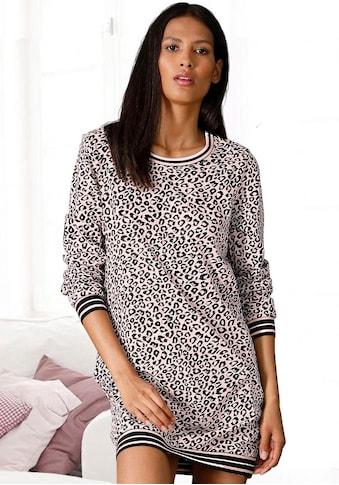 s.Oliver Bodywear Nachthemd, mit Leo Allover-Print kaufen
