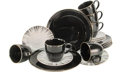 CreaTable Kaffeeservice »Enjoy Black Style«, (Set, 18 tlg.) kaufen