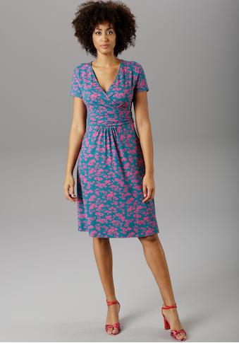 Aniston SELECTED Sommerkleid, im kontrastfarbenen Blumendruck - NEUE KOLLEKTION kaufen