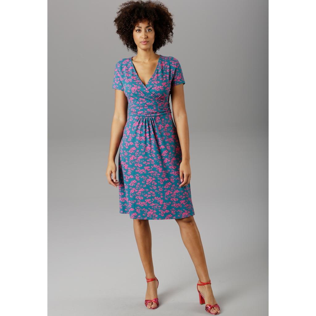 Aniston SELECTED Sommerkleid, im kontrastfarbenen Blumendruck - NEUE KOLLEKTION