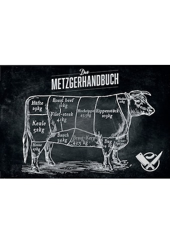 Holzbild »Deco Panel 60x90 Beef Cut« kaufen