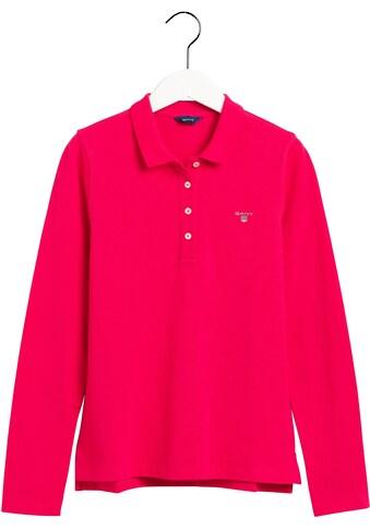 Gant Poloshirt, in Piqué-Qualität Langarm kaufen