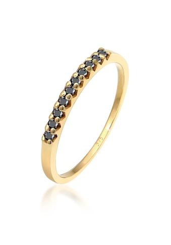 Elli Diamantring »Geo Schwarzer Diamant (0.20 ct.) 375 Gelbgold« kaufen