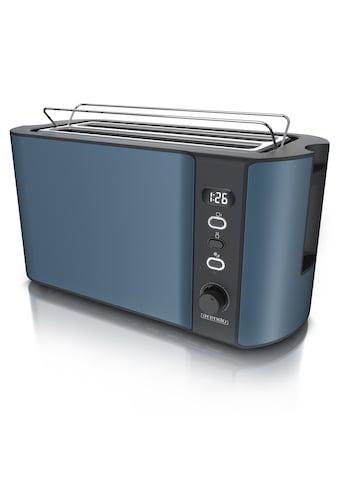 Arendo Toaster »Frukost Blau«, 2 lange Schlitze, 1500 W, 1500W mit Display kaufen