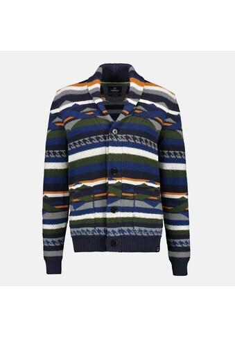 LERROS Strickjacke »Etno-Stripes«, mit Schalkragen und Knopfleiste kaufen