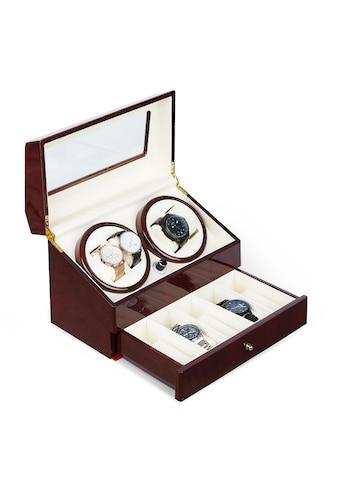 Klarstein Uhrenbeweger 4 Uhren 4 Modi Schubfach Rosenholz kaufen