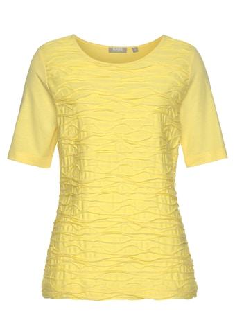 Rabe Rundhalsshirt, unifarben, mit Wellenstruktur kaufen