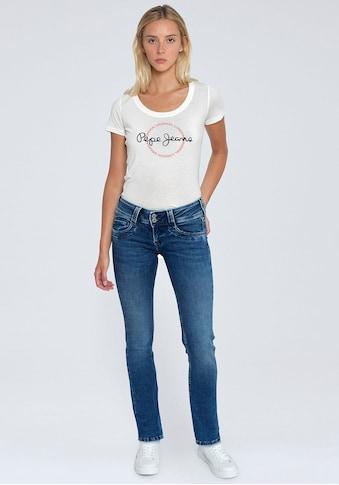 Pepe Jeans Straight-Jeans »GEN«, mit 1-Knopf Bund im Komfort-Stretch-Denim kaufen