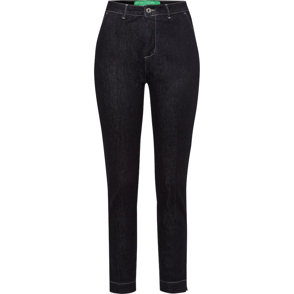 United Colors of Benetton Slim-fit-Jeans, mit Bügelfalten vorne