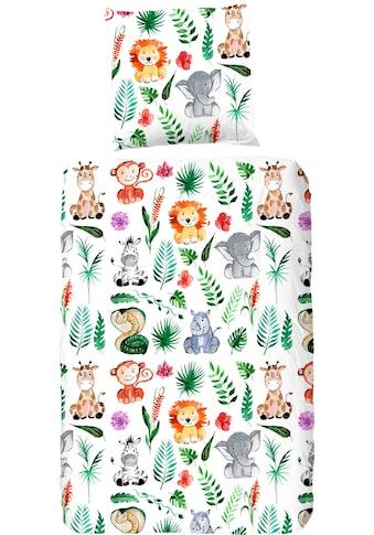 good morning Kinderbettwäsche »Zoo«, mit unterschiedlichen Tieren kaufen