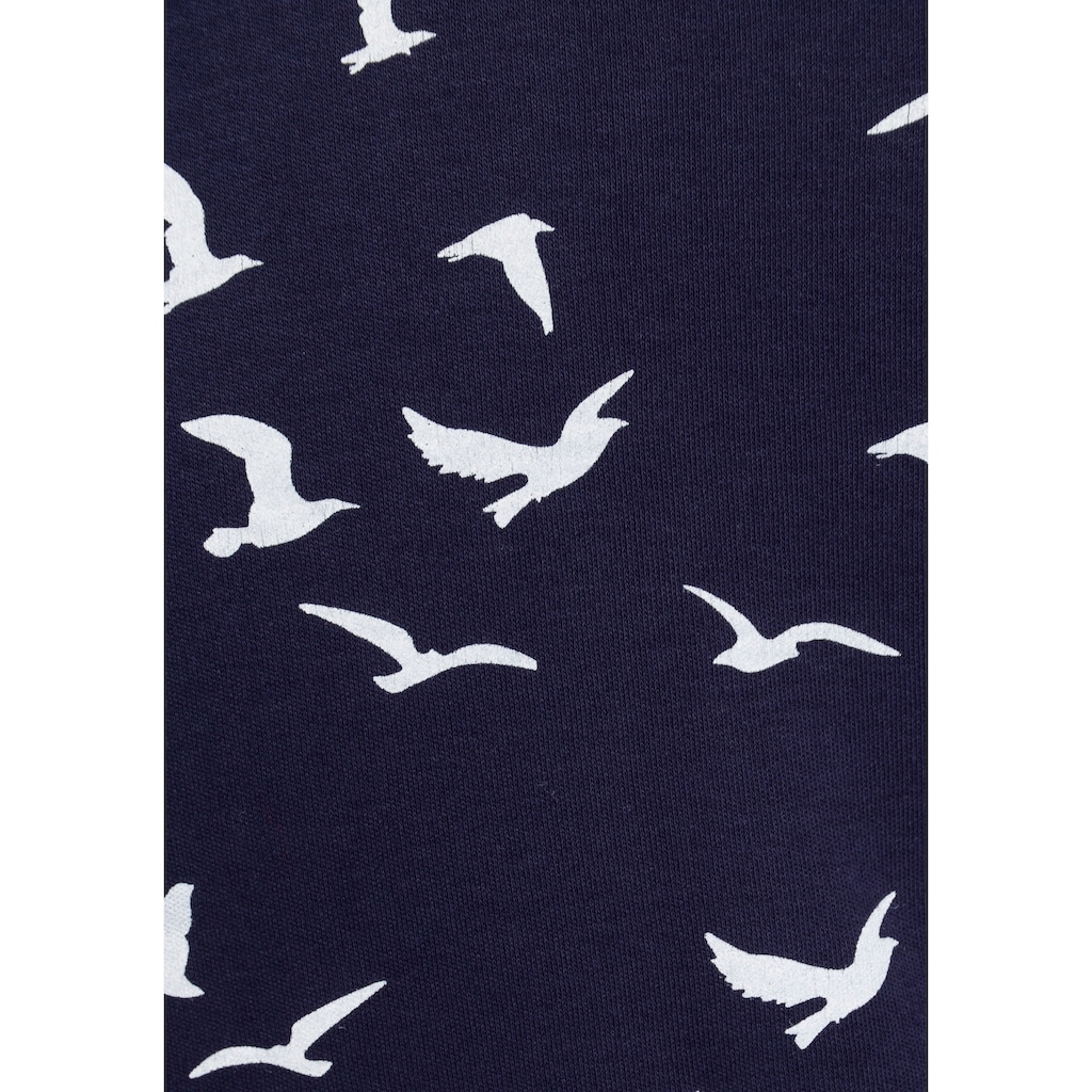 KangaROOS Sweatshirt, mit modischem Minimal-Allover-Print
