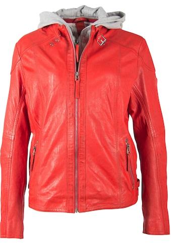 Gipsy Lederjacke »Keyla«, mit Biker-Details & Jersey-Kapuze kaufen