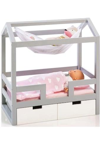 MUSTERKIND® Puppenbett »Barlia, grau/weiß«, mit 2 Schubladen kaufen