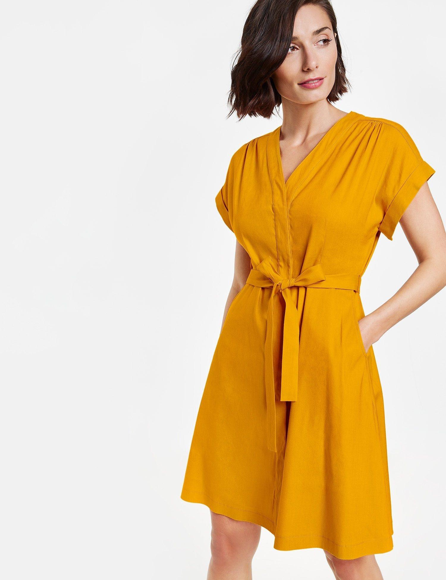 Taifun Kleid Langarm Kurz Sommerkleid Aus Leinen Mix Zu Top Preisen Otto