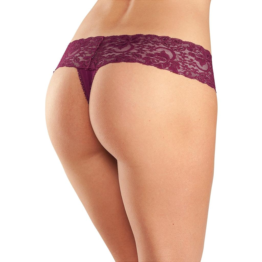 vivance active String, mit breitem Spitzenbündchen